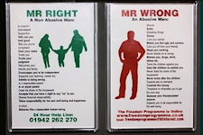 Mr Wrong Mr Right Fridge Magnets